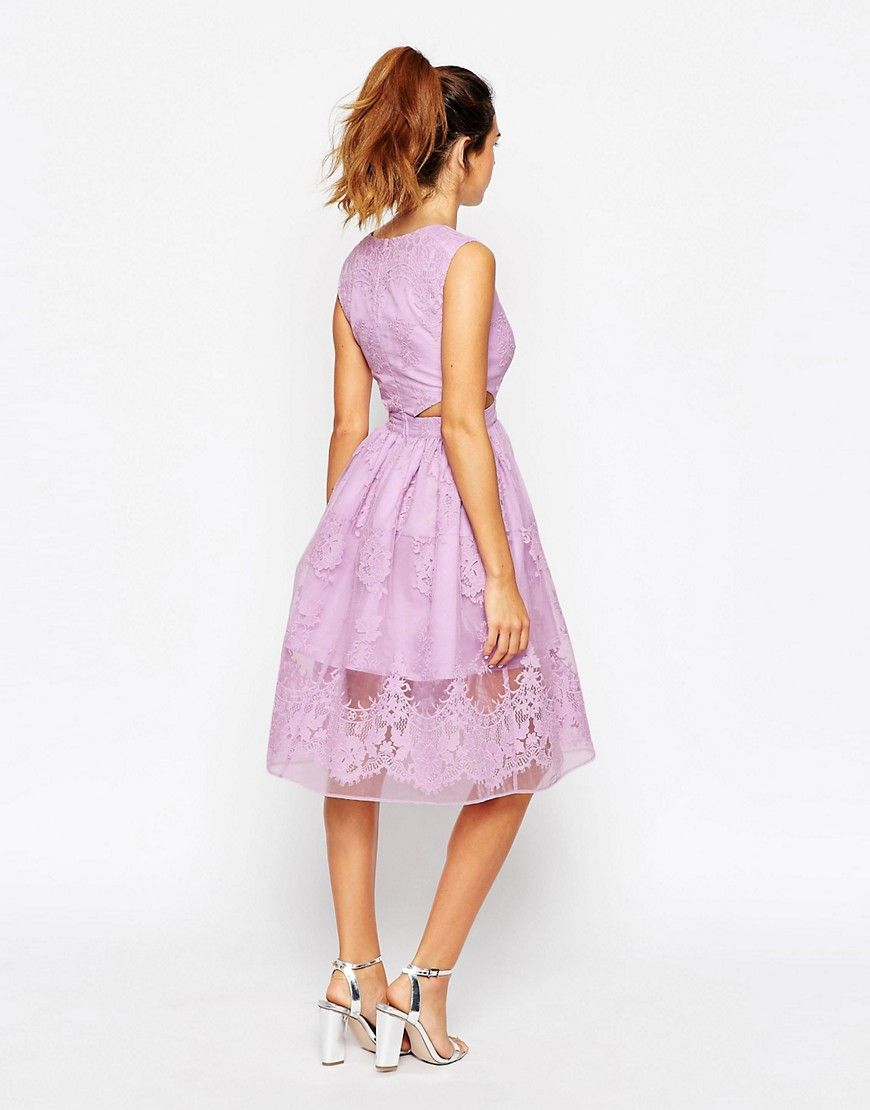 ASOS PETITE Prom Dress With Floral Embroidery And Cutout Detail ...