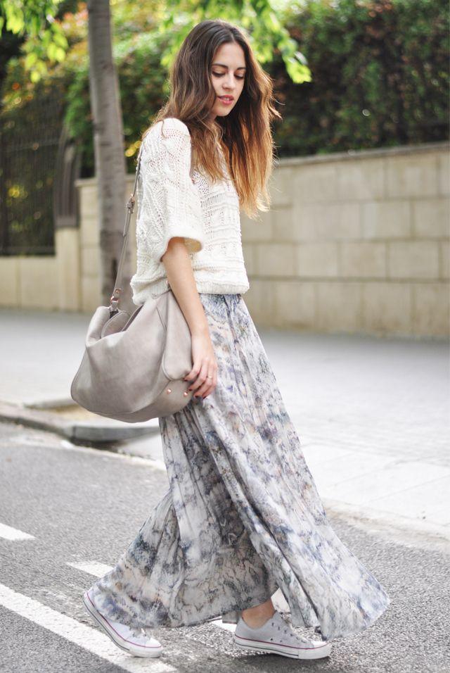 cffd6391719 Dansvogue - Maxi skirt and Converse