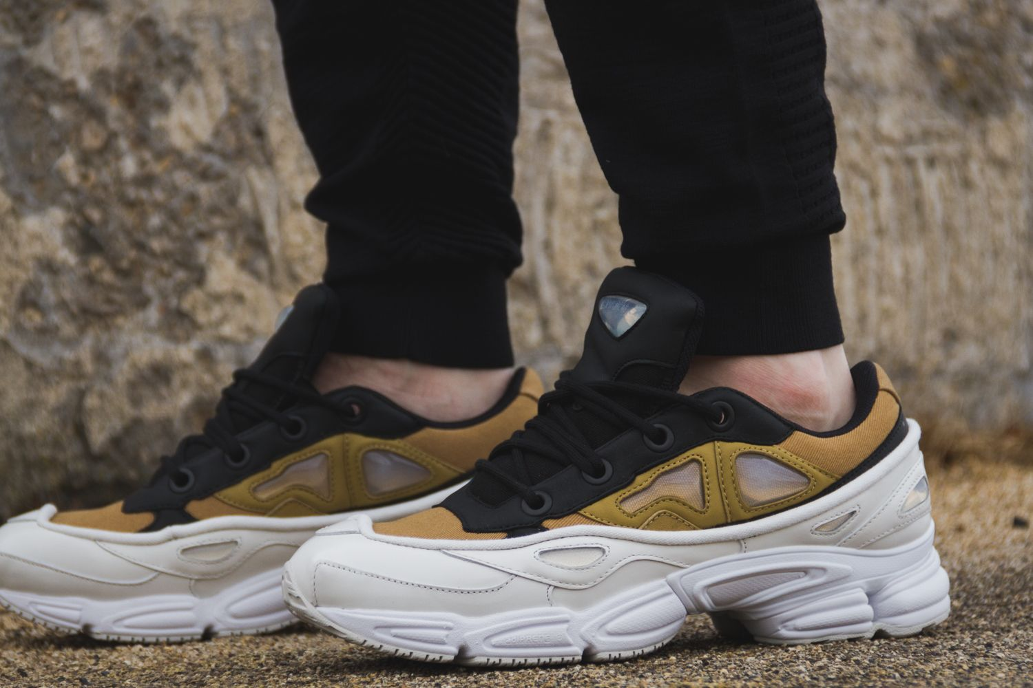 wholesale price closer at biggest discount adidas x Raf Simons Ozweego III Sneakers in White/Khaki ...