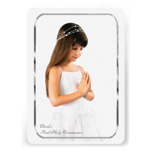 Thin Silver Frame Photo First Communion