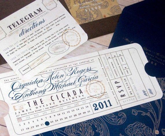 Vintage Telegram Invite Ideas In 2019 Pinterest Wedding