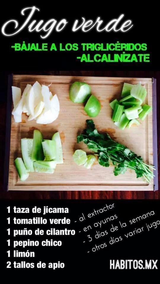 Jugo verde habitos pinterest alcohol detox detox for Infusiones para bajar el colesterol