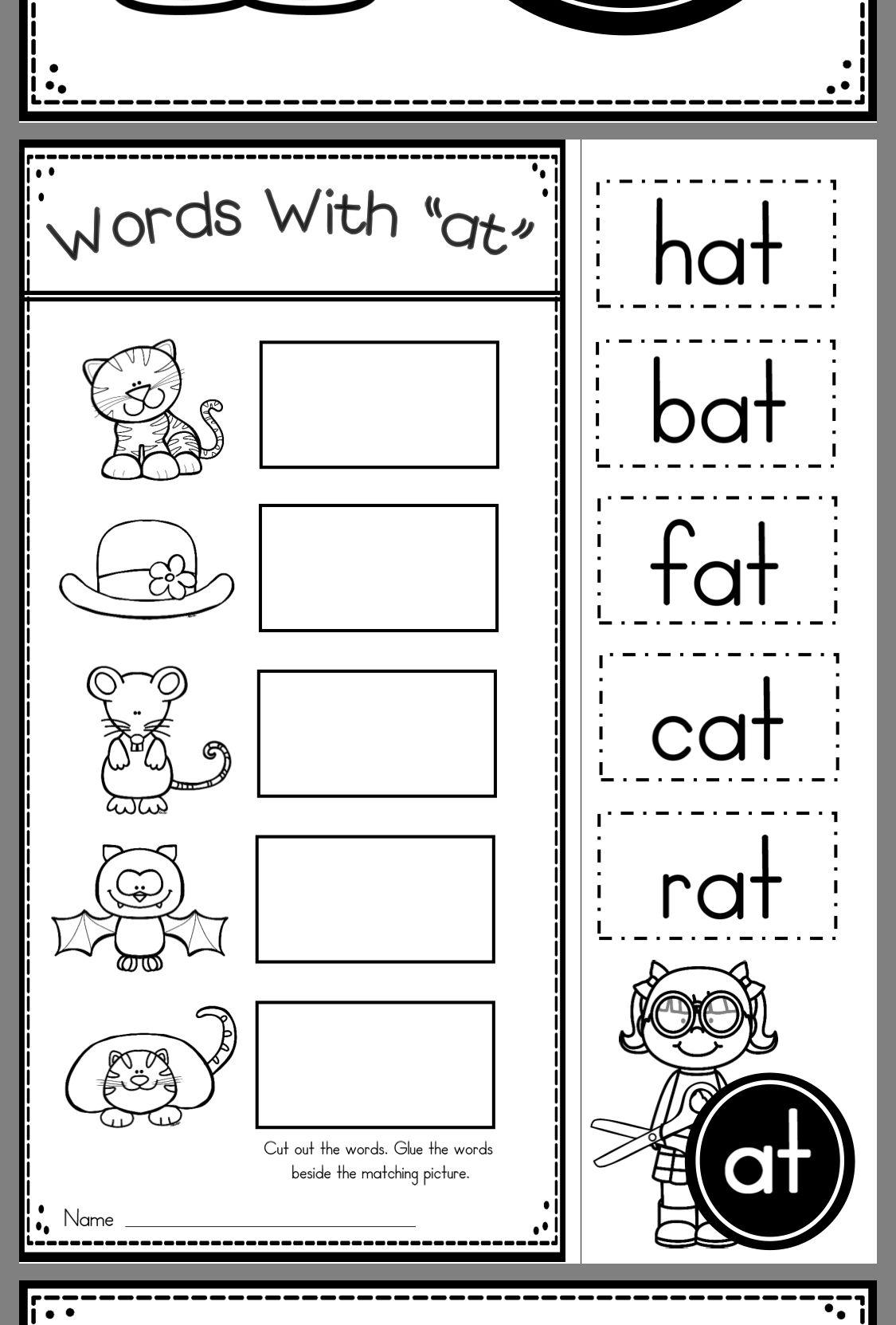 Pin By Julia Catalan On Site Words Word Family Worksheets Kindergarten Word Families Phonics Kindergarten