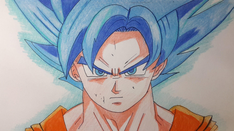 Como Dibujar A Goku Dios Azul Paso A Paso El Dibujante Como Dibujar A Goku Goku A Lapiz Dibujo De Goku