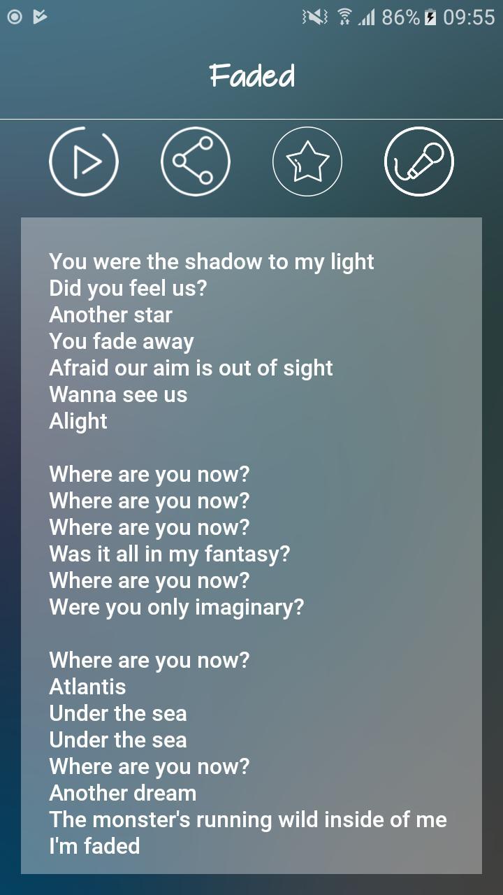 Alan Walker Lyrics For Android Apk In 2020 Alan Walker Alone Lyrics Lyrics