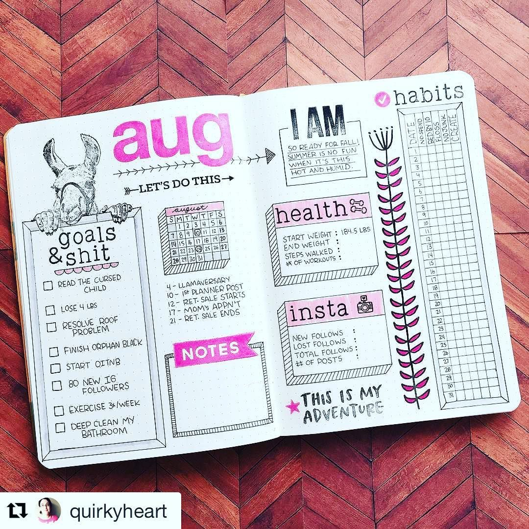 bullet journal monthly goals inspiration:  I'm crying  #goalsandshit. Amazing. And that llama? Camel? Alpaca? So…