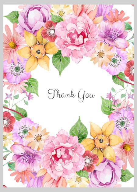 Victoria Nelson - Floral Thank You Wreath | Thank you ...