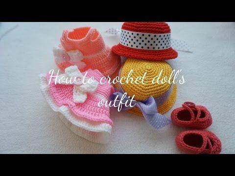 Amigurumi Bebek Tarifleri : Amigurumi bebek kıyafetleri yapılışı Şapka elbise patik burada