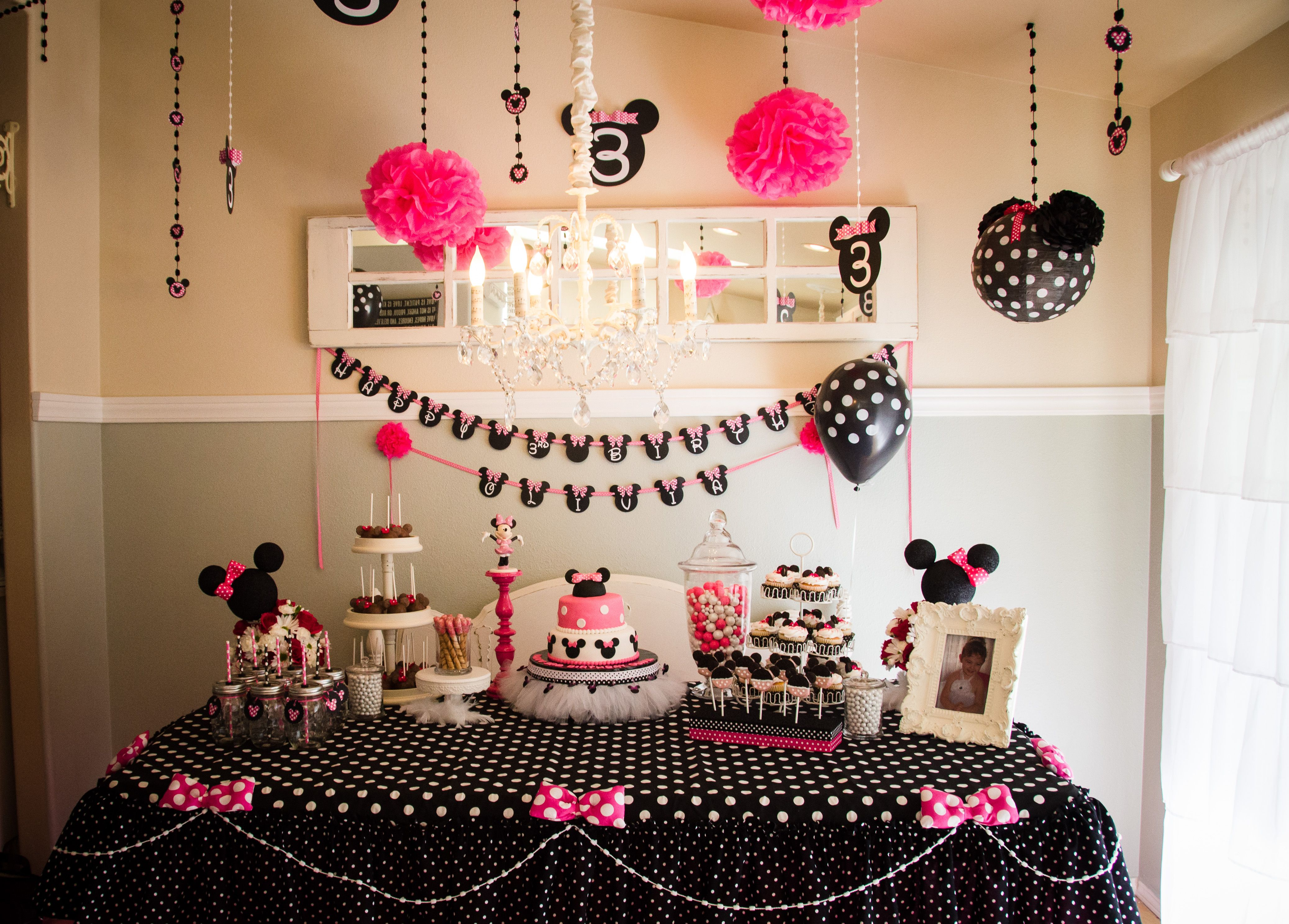 Minnie Mouse 3rd Birthday Party Minnie mouse party Mouse
