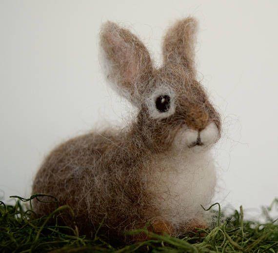Nadel Gefilzt Hase Waldkaninchen Kaninchen Baby Jungen Wald Tier Nadelfilztiere Baby Kaninchen Und Filz Hase