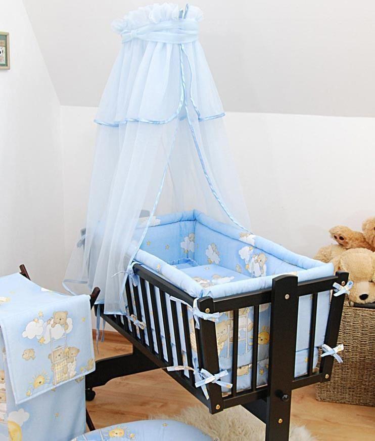 Baby Canopy Drape For Rocking Crib Swinging Crib Cradle Moses Basket Blue Crib Swing Baby Canopy Baby Cribs