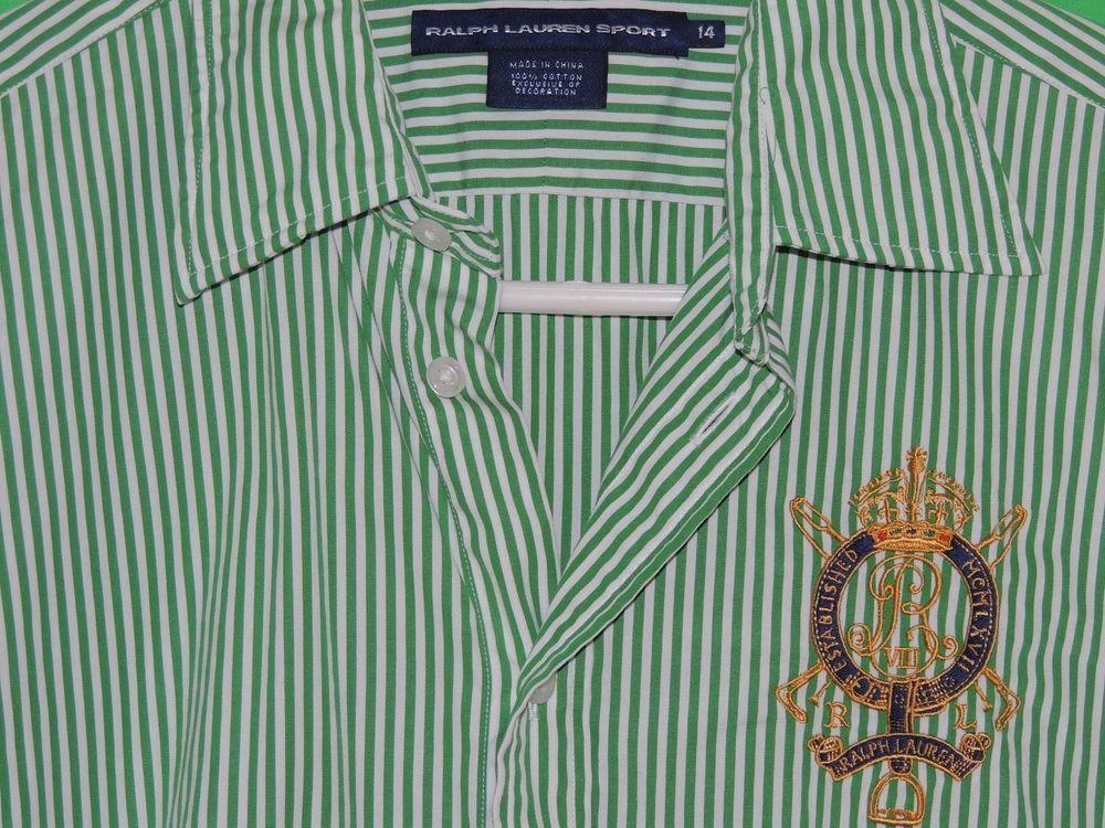 #Polo #RalphLauren #RalphLaurenSport #Womens #LongSleeve #Striped #Crest #Shirt #FREEShipping