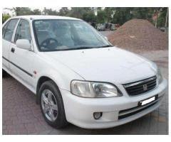 Honda City White Color Model 2003 Luxury Car Available For Sale In