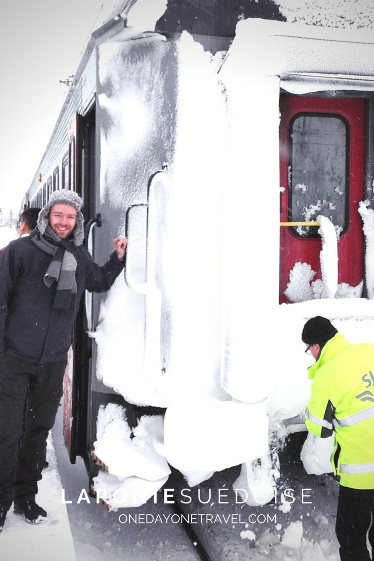 Arrivée en train à Kiruna depuis Stockholm. OK, on en en