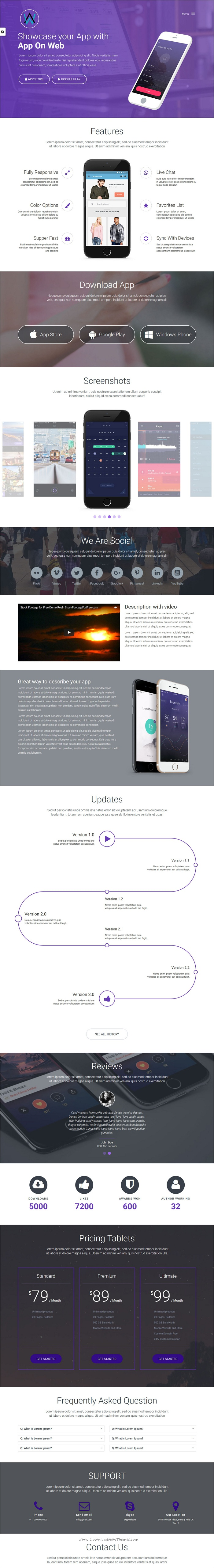Lexus | App Landing Page HTML 5 Template | App and Mobile app