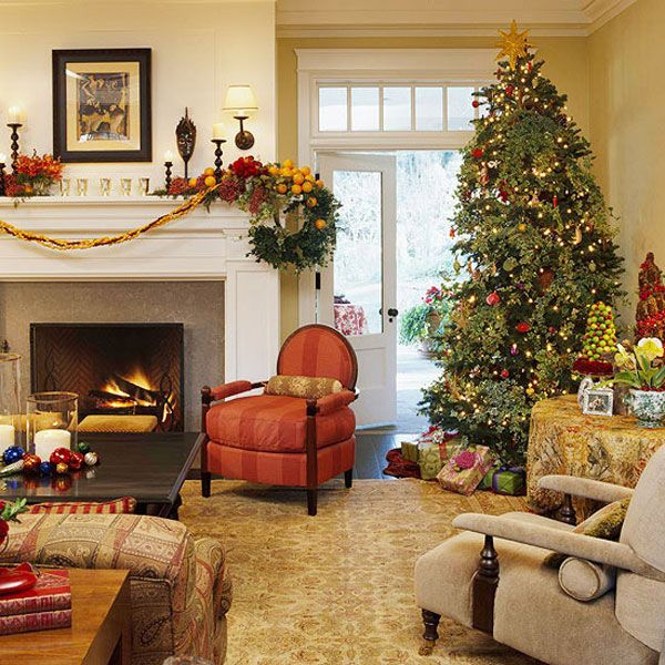 Christmas Living Room 2 33 Christmas Decorations Ideas Bringing ...