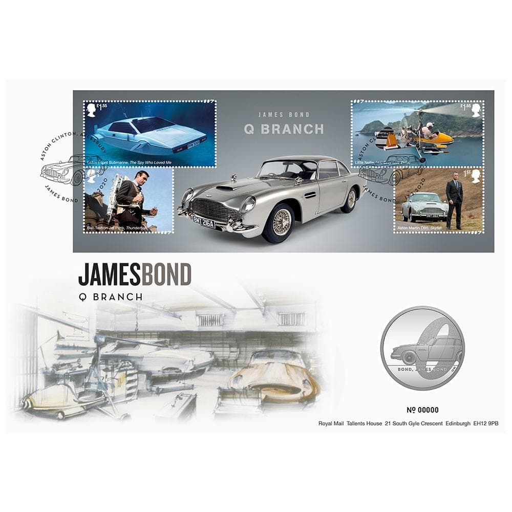 Royal Mail James Bond Q Branch Brilliant Uncirculated Coin Cover - Limited Edition