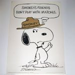 Snoopy + Smokey the bear Fire Safety Poster