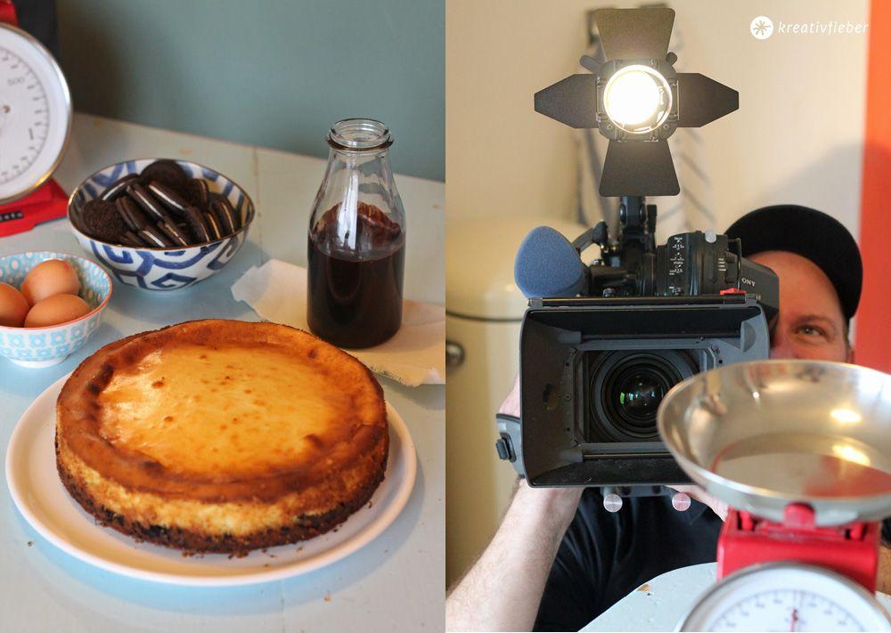 Cheesecake Mit Oreokeksboden Und Schokososse Backen Pinterest