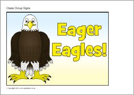 Eagle class group signs (SB9654) - SparkleBox
