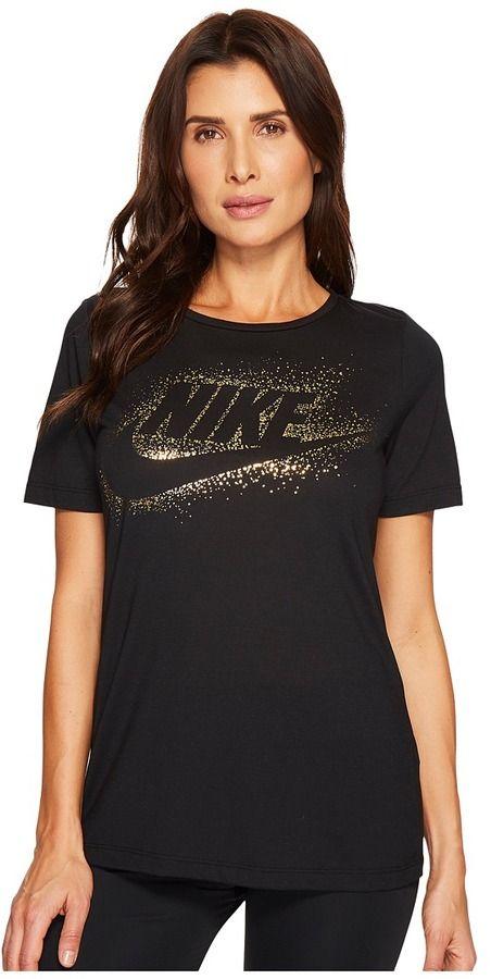 Nike Sportswear Essential Metallic Tee Women S Clothing Metallic Tees Nike Sportswear Womens Shirts