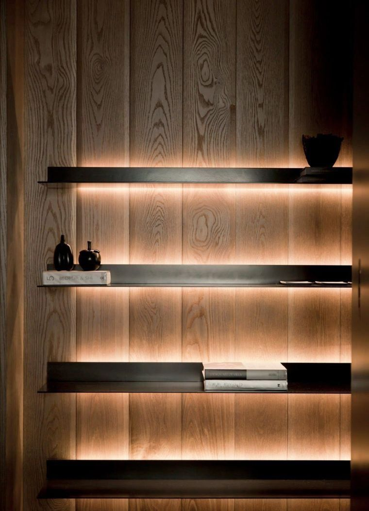 clairage indirect id es luminaire ambiance pour l 39 int rieur cabinet shelf pinterest. Black Bedroom Furniture Sets. Home Design Ideas