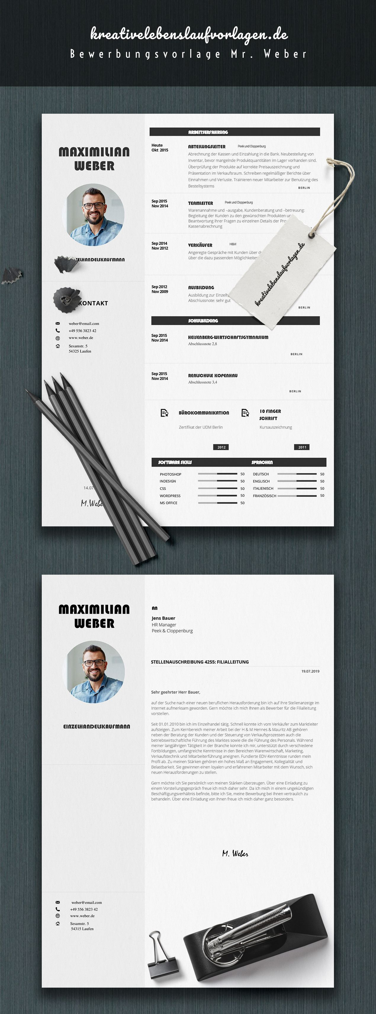 Mr.Weber | Lebenslauf, Bewerbung design und Bewerbung ...