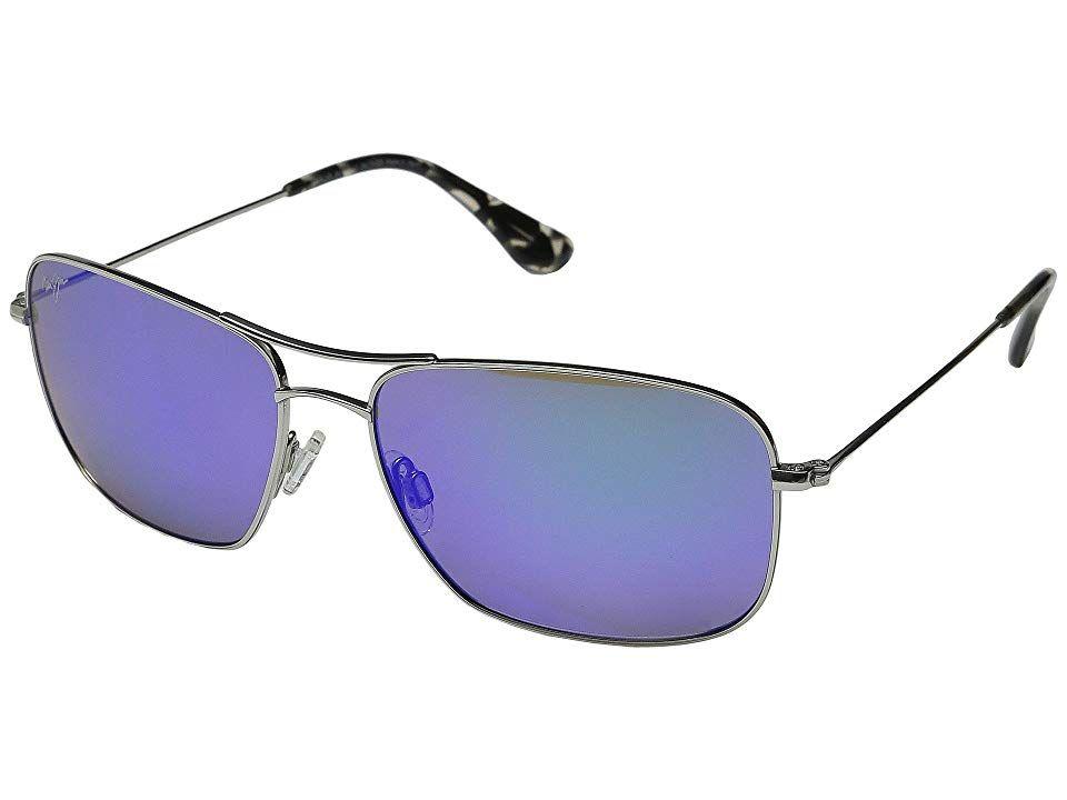 Maui Jim Wiki Wiki Sport Sunglasses Silver/Blue Hawaii