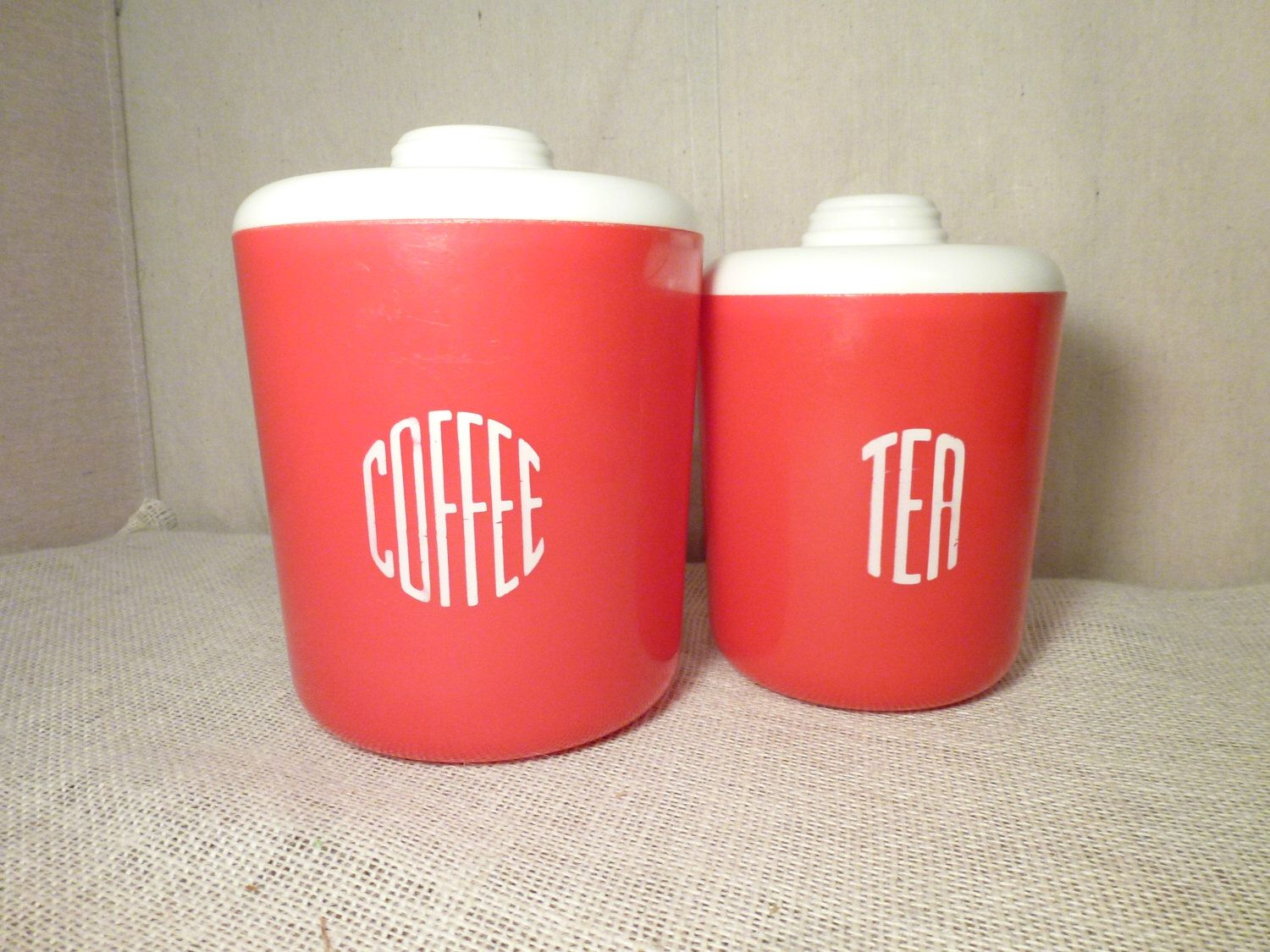red canister set retro camper glamping rv trailer vintage