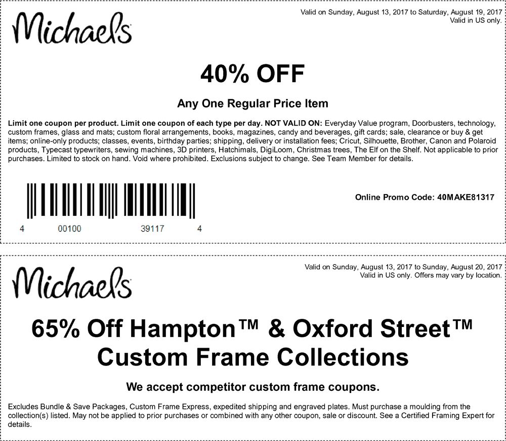 Michael\'s coupons. | Coupons. | Pinterest