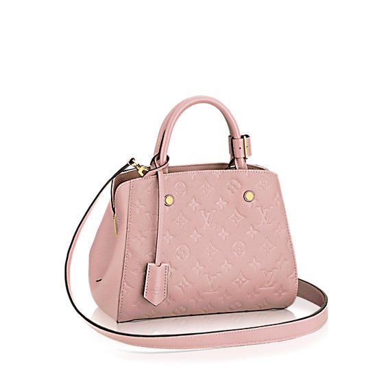 f1d54fb96143 ... Color for Spring Summer 2015. Louis Vuitton Rose Ballerine Monogram  Empreinte Montaigne BB Bag