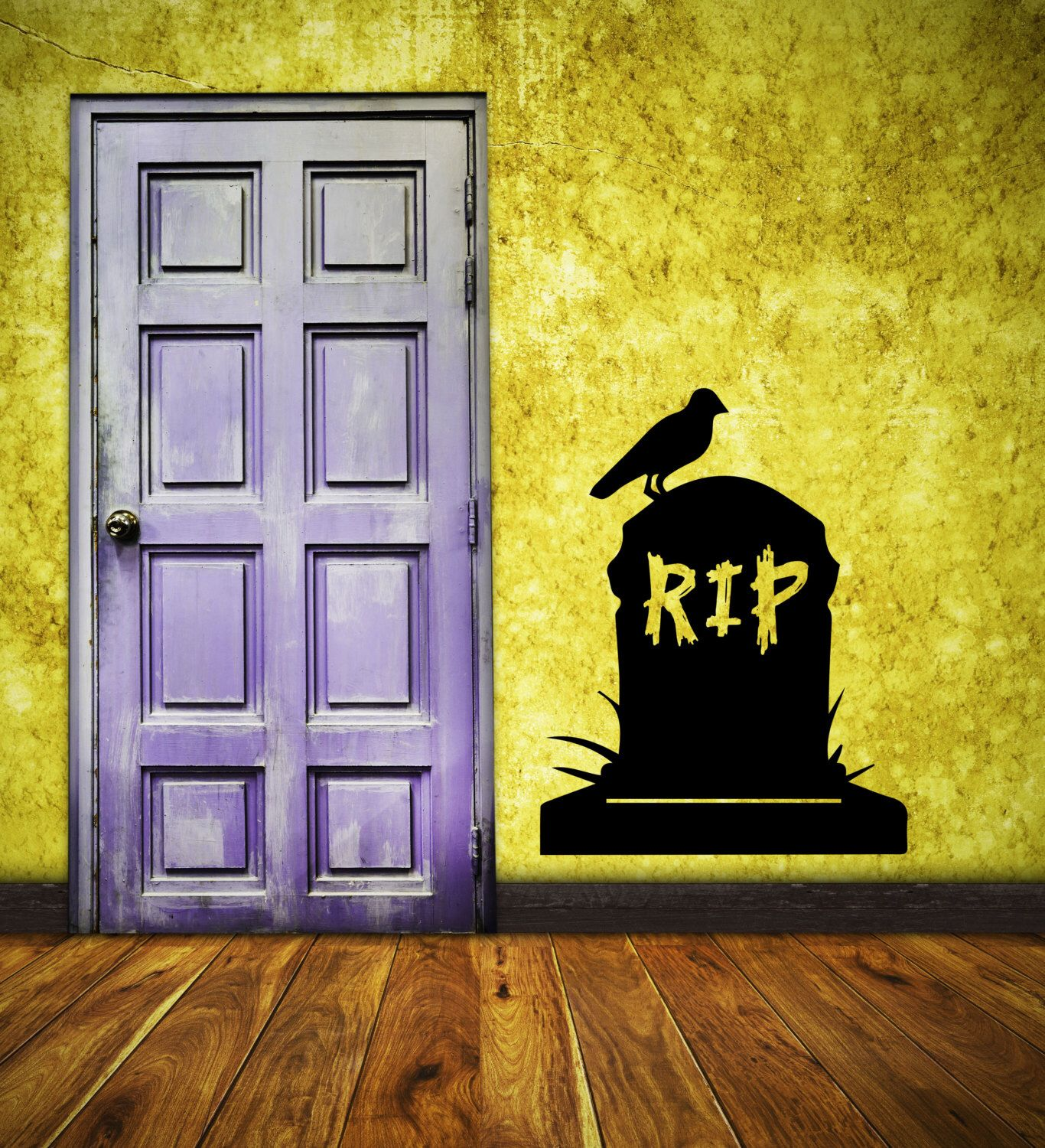 Halloween Wall Decal Tombstome RIP Vinyl Wall Decal Decor RIP ...