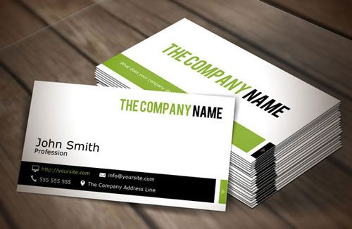 Modern And Simple Business Card Template Mockup Psd