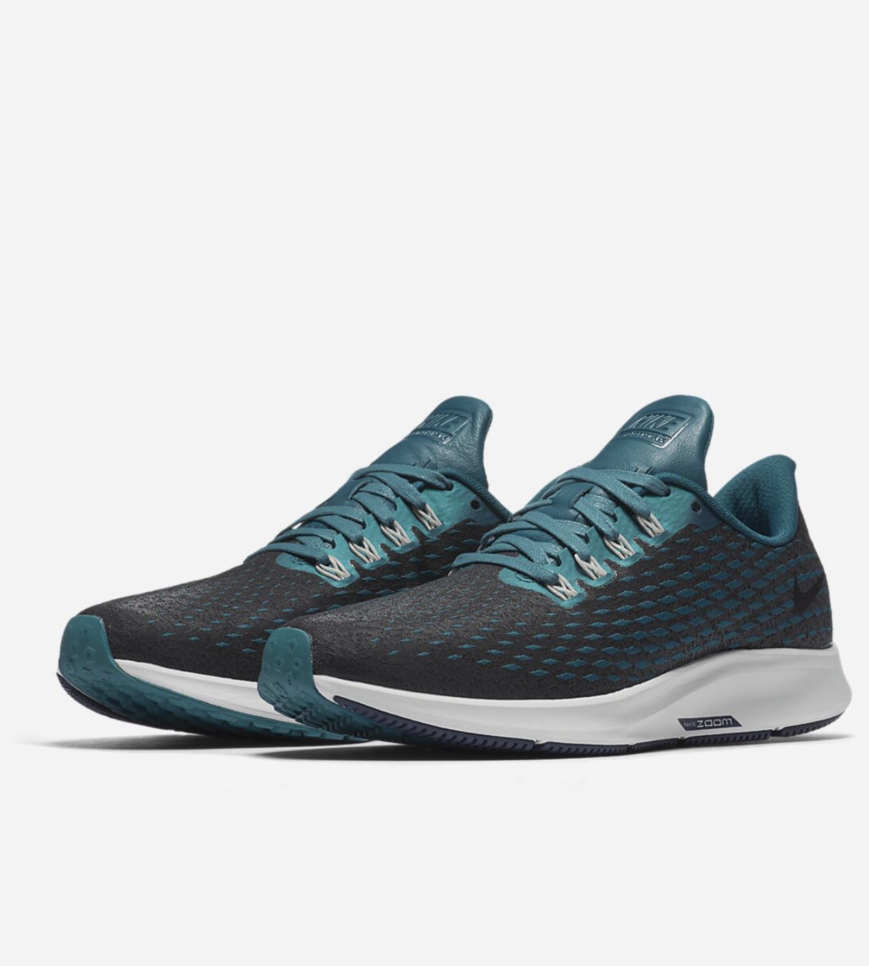5da815da3260 Nike Air Zoom Pegasus 35 Premium- Geode Teal Light Silver Midnight Spruce