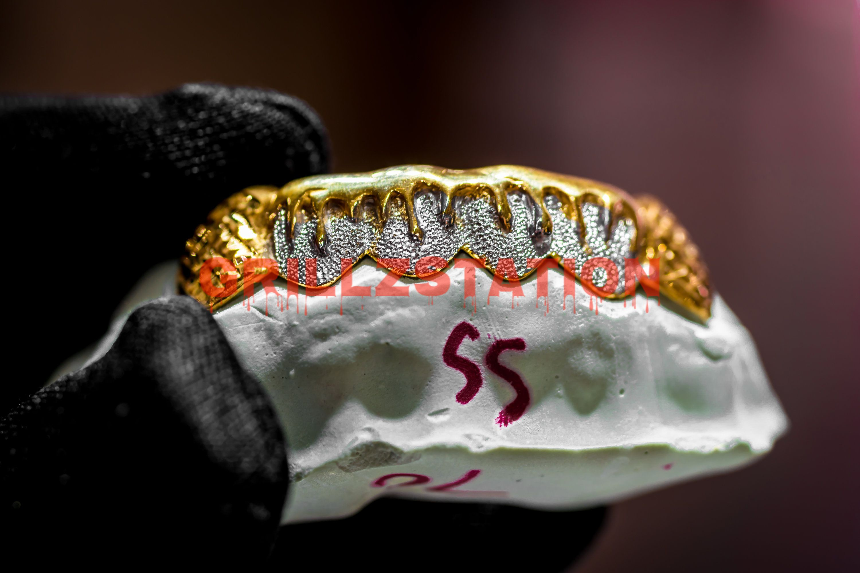 Diamond Dust Dripping Custom Grillz Custom Real Gold Grillz By