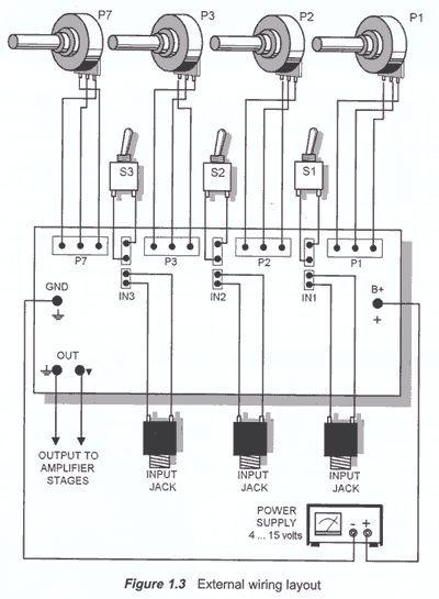 audio mixer external wiring
