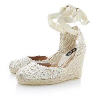 Lambo espadrilles semelle compens e et lacets - Lacet ruban pour chaussure ...