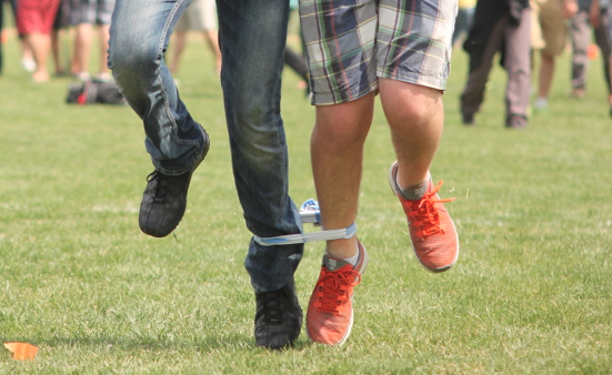 Have a three-legged race! Use belts or bandanas or whatever you ...