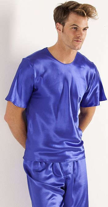 mens silk satin t shirt ref mt80 easy fitting t shirt in silk ...