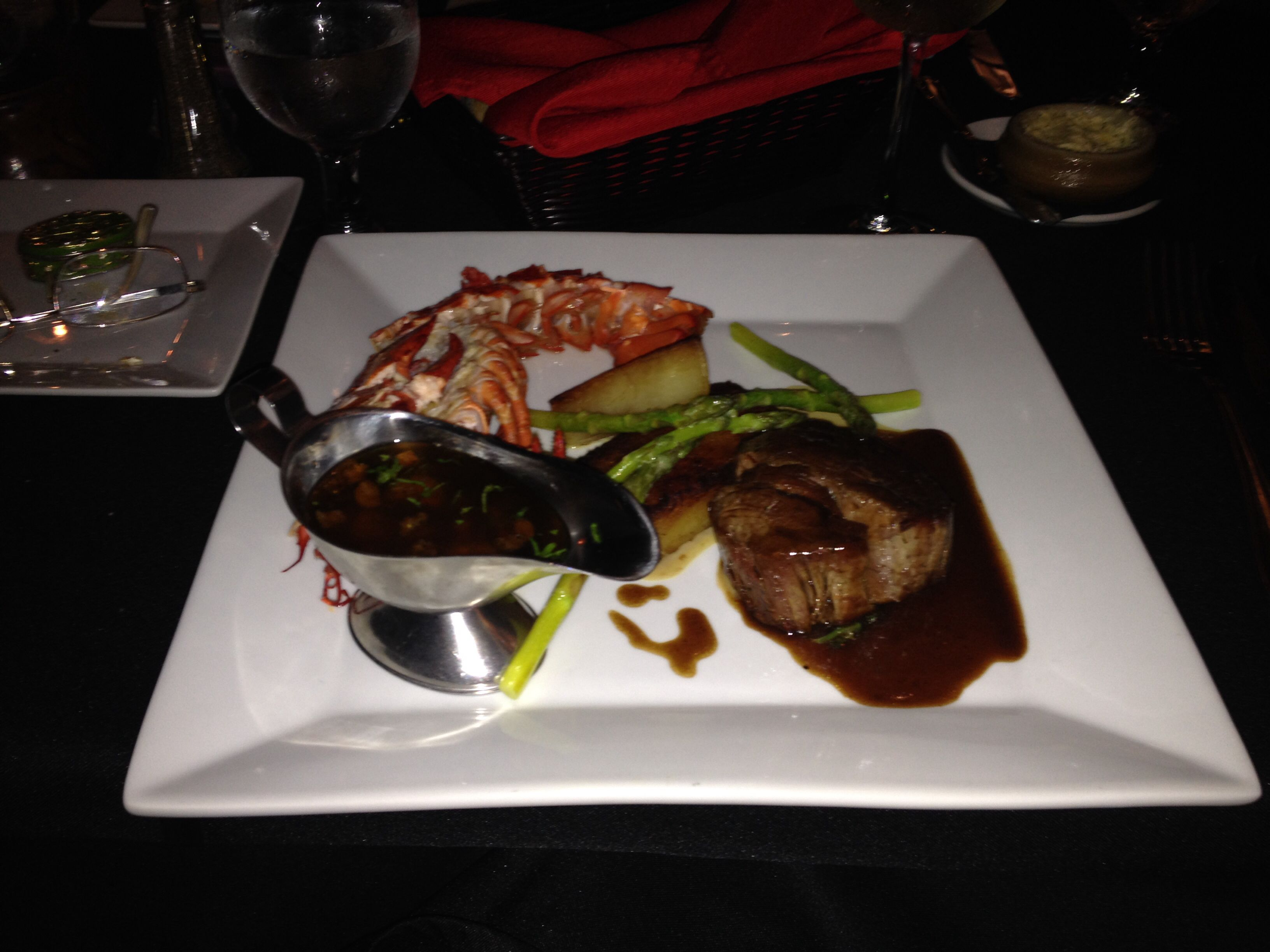 Surf &Turf at the Charter House in Simpson Bay