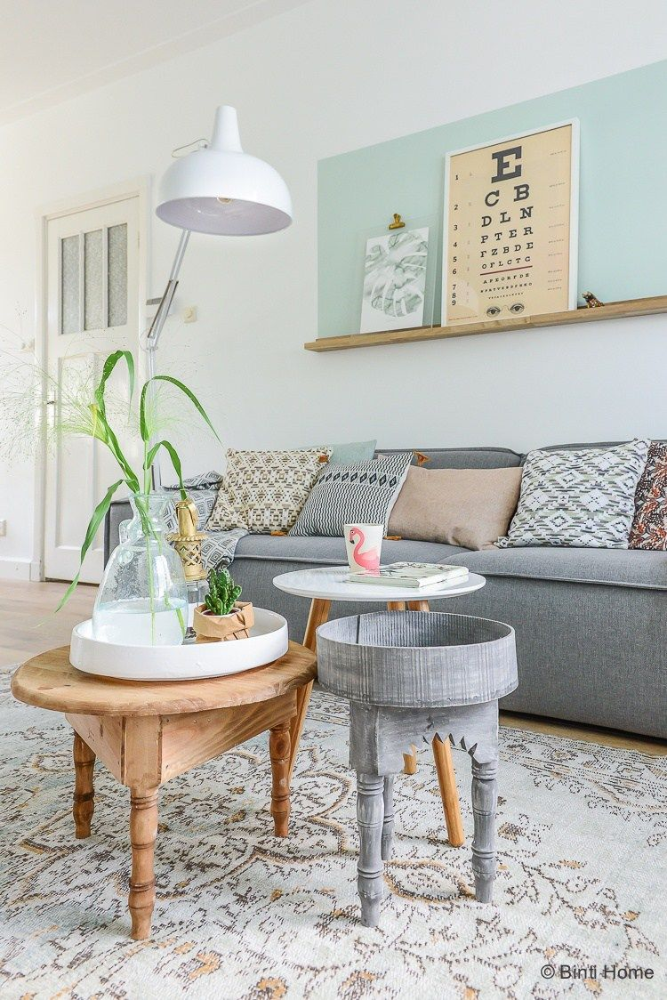 Grey sofa styling tips Woonkamer inrichten kleur vlak boven de wand ...
