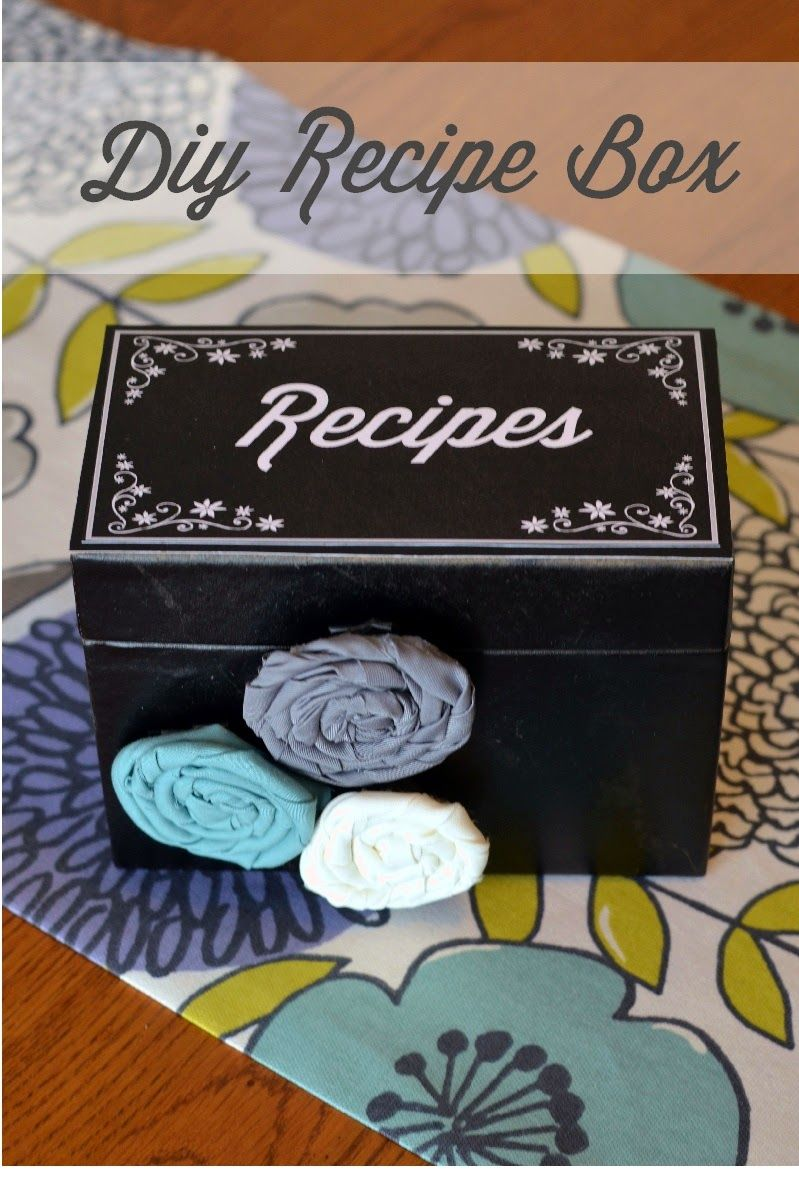 Digital Designs Scrapbooking: DIY Recipe Box