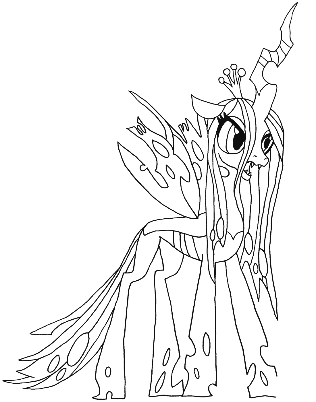 My Little Pony Queen Chrysalis Kleurplaat Colour In Pics Mixed