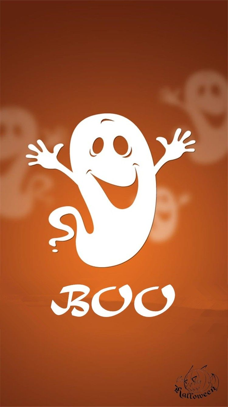 2014 Cute Happy Halloween Boo ghost iPhone 6 wallpaper ...