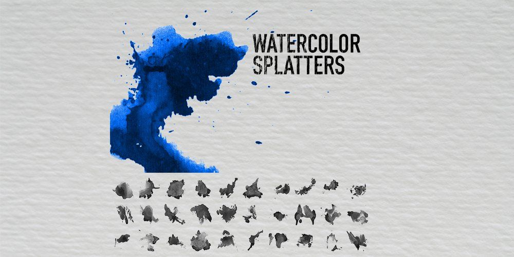 Watercolor Splatter Brushes Watercolor Splatter Splatter