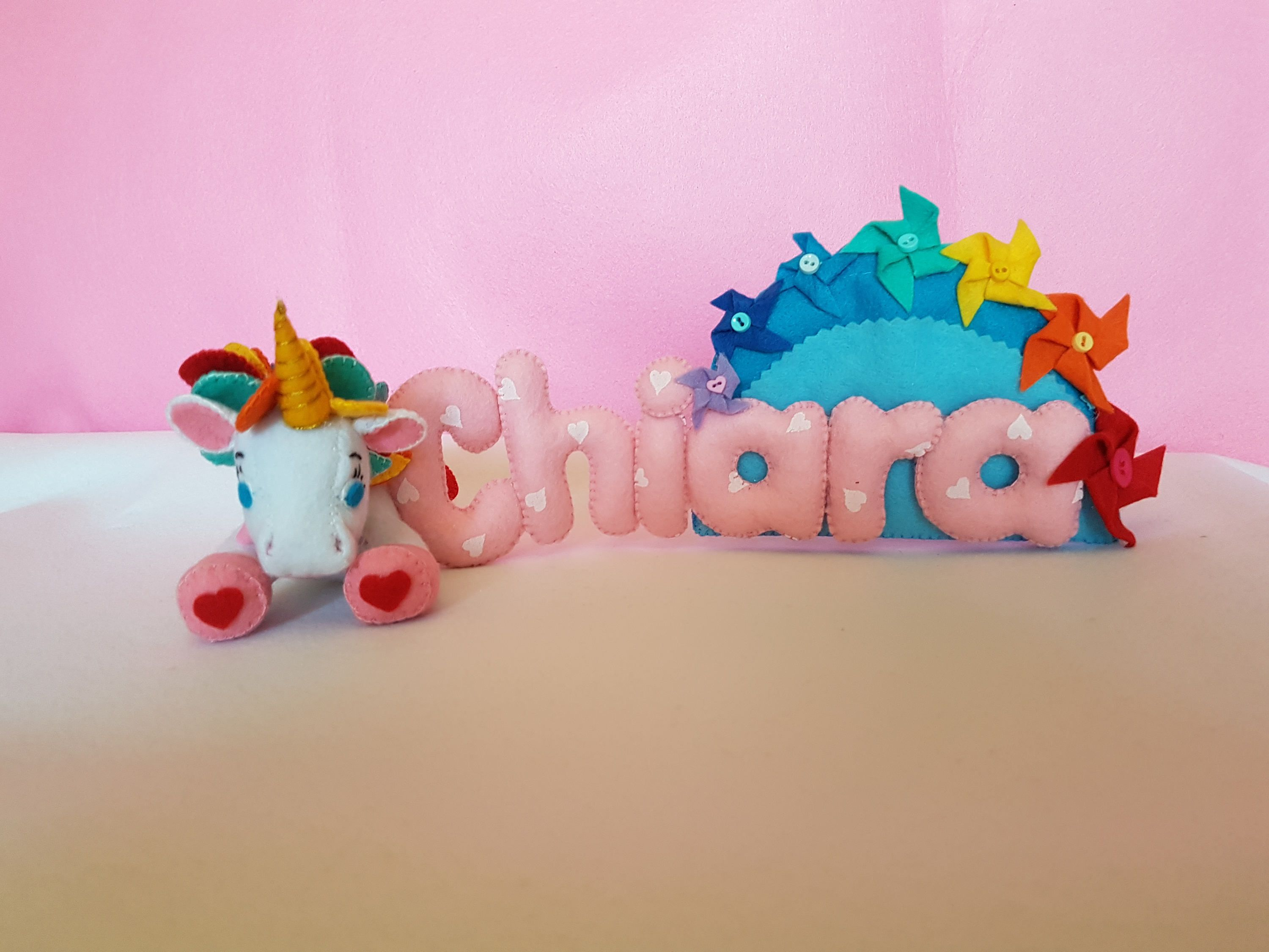Banner Name Felt Name Personalized Gift On Felt Unicorns Baby