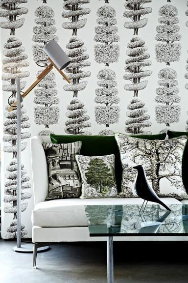 Tapeten-Trends Weiche Blüten \ - moderne tapeten wohnzimmer