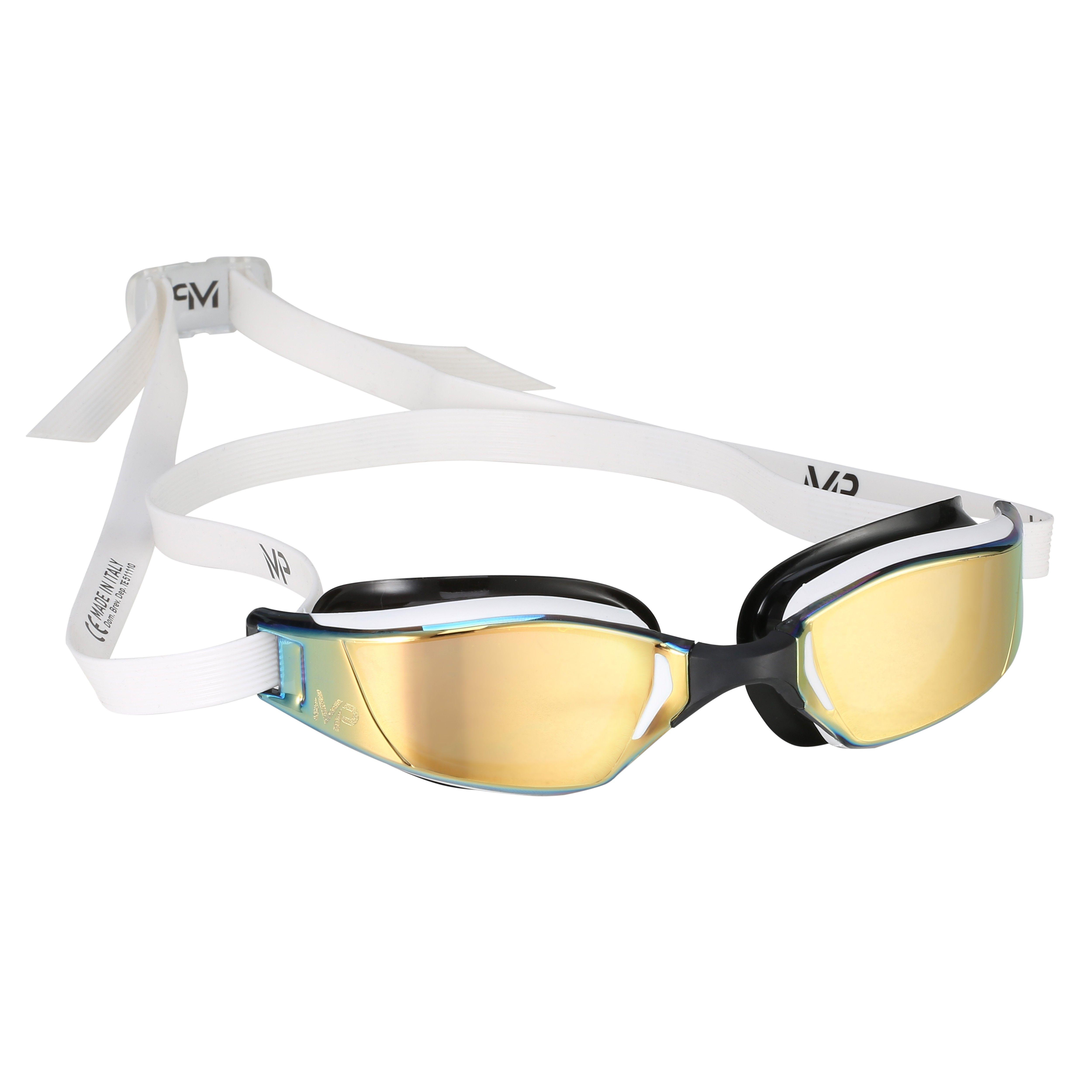 Michael Phelps XCEED Goggles White Gold lens Side | SWIM, BIKE, RUN ...