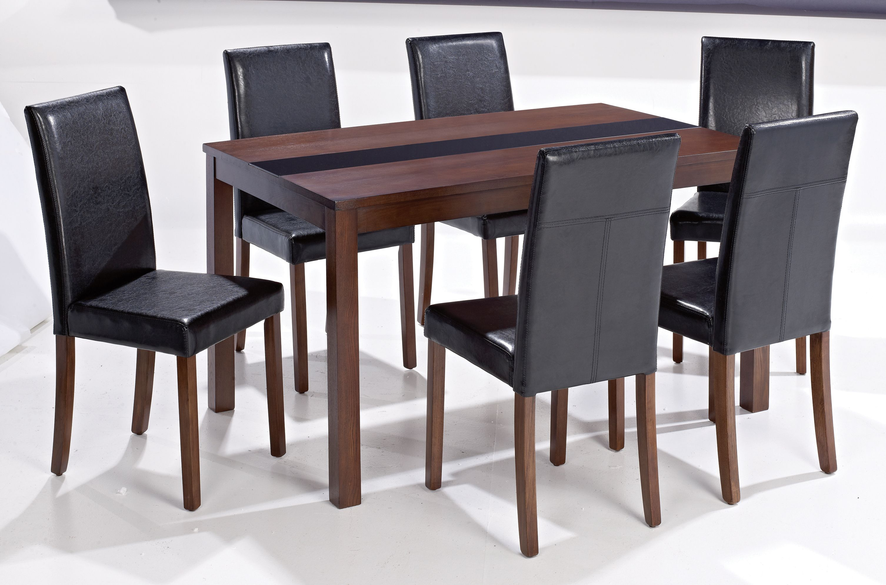 Ashleigh Walnut Dining Sets Sophisticated And Elegant Looking Tables In Real Ash Veneer With A Walnut Finish Beautifully Contrasted With A Chairs