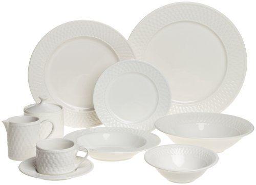 Oneida Basketweave Dinnerware Set Service for 8  sc 1 st  Pinterest & Oneida Stoneware Dishes | Oneida Basketweave 53-Piece Dinnerware Set ...